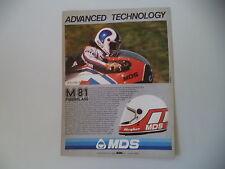 advertising Pubblicità 1982 CASCO MDS M 81 e ROLAND FREYMOND e MOTO MBA ELF 250