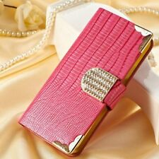 For IPhone 5 5S SE Bling Diamond Glitter Shockproof PU Leather Wallet Case HP