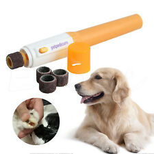 Electric Dog Cat Pet Claw Toe Nail Trimmer Tool Care Grooming Grinder Clipper