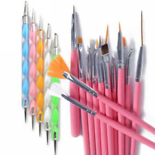 20PCS Nail Art Womens Design Dotting Painting Drawing Polish Brush Pen Tools Set