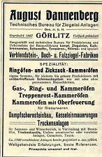 August Dannenberg Görlitz BAUMATERIALIEN Historische Reklame von 1908