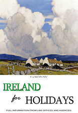 Ireland for Holidays - Galway - Paul Henry Travel A3 Art Poster Print