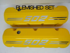 Big Block Chevy 502 Die Cast Aluminum Yellow Valve Covers BLEMISHED