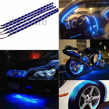 New 5 x 15 LED 12V 30cm Car Motor Vehicle Flexible Waterproof Strip Light Blue
