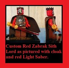 Custom Lego Star Wars Red,White & Black Zabrack Male SIth Lord