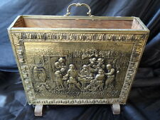 Vintage Brass Magazine Newspaper Rack Stand Pub Restaurant Hotel Cafe B&B Home