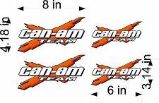 CAN-AM Logo Decal TEAM X 4pk ORANGE vinyl sticker graphic