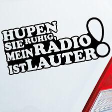 ADESIVI AUTO suonalo la calma il mio radio è Lauter Auto Adesivi Sticker 814