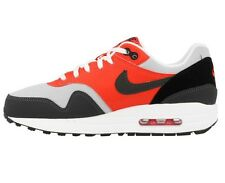NIKE AIR MAX 1 (GS) BOYS TRAINER UK SIZE 4 EU 36.5 GREYS RED BLACK 555766011