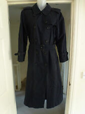 BURBERRYS' Ladies Navy Trench Coat Size UK 14 LONG