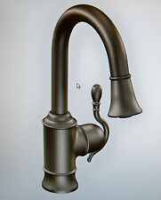 Moen Woodmere Oil Rubbed Bronze Pull Down Bar/Prep Faucet S6208ORB