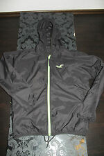TOP HOLLISTER Mens Wind Rain Jacket Black Green size M new with label