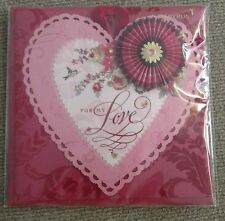 Papyrus Valentines Day Card Embellished Doily Retail Value $8.95!!!