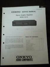 Onkyo Service Manual for the EQ-18 Graphic Equalizer ~ Repair Manual