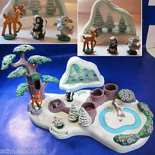 Mini Polly Pocket Bambi 100% Komplett und Schneekugel Hase Disney Playset
