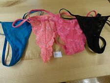 LOT of 4 NWOT Victoria's Secret, V String thong panties, XSmall XS