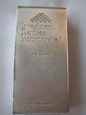 INVESTMENT RARITES INCORPORATED SILVER BULLION BAR - RARE FIND