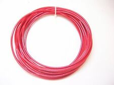 "RED Vinyl Coated Wire Rope Cable, 1/8"" - 3/16"", 7x7,  50 ft"