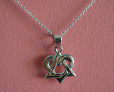 Celtic Knot Charm Necklace - 925 Sterling Silver Irish Triangle Heart Celtic