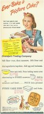 Vintage PYREX 1947 COLOR Magazine Ad Picture Cake Ovenware Easter Rabbit Bunny