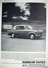 1964 Sunbeam 'RAPIER' Car Photo Print ADVERT - Vintage Auto AD Original