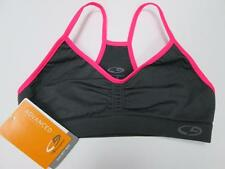 C9 BY CHAMPION KIDS HOT PINK GRAY DUO DRY FIT RACER BACK SPORTS BRA S/6 NEW