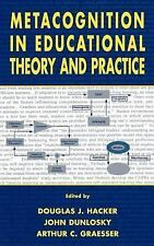 Metacognition in Educational Theory and Practice (Educational Psycholo-ExLibrary