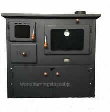 New14 kW.Cooking Wood Burning Stove Oven 2 Cast Iron Upper Plates Doors Cooker