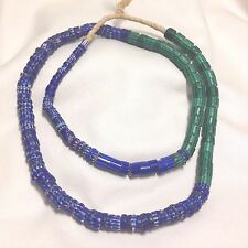 4 & 6-Layer Vtg Chevron Tube & Disc Glass African Trade Beads, Approx 170 beads