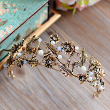 Vintage Bridal Baroque Crown Tiara Wedding Headband Hair Accessories Headpiece