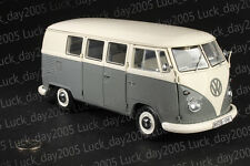 SCHUCO Volkswagen VW T1 Bus Grey/White color 1/18