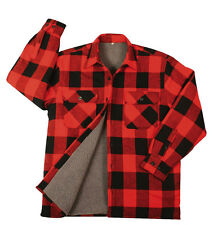 Flannel Jacket  Sherpa-Lined Extra Heavyweight Buffalo Plaid Rothco