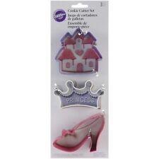 Wilton Princess Cookie Cutter Set - Crown,castle,slipper FAST  DESPATCH