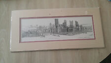 """Contemporary Artist Nevin Robinson Signed Print """" The Point Pittsburgh PA"""""""