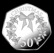 UNCIRCULATED  GIBRALTAR 2014  BOW AND HOLY CHRISTMAS 50P COIN