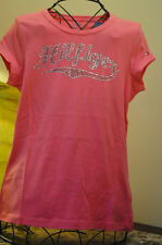 Tommy Hilfiger Girls Pink Sparkle Tee Size Large 12-14
