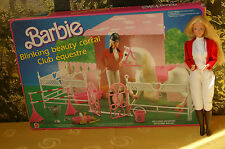 Vintage Barbie Blinking Beauty Corral Mattel 1987 / Pferde Stall + OVP + Doll