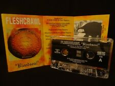 FLESHCRAWL Bloodsoul /1996 MC CASSETTE MYSTIFIER, FURBOWL, CORONER, AT THE GATES