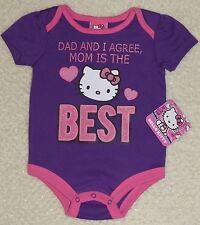 HELLO KITTY / MOM IS THE BEST / BABY / CREEPER / ROMPER / 12 MONTHS / NWT