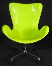 Miniature Sampler Egg Swan Chair Retro Design Modern Home Decor Lime Green Mini