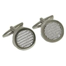 Silver Carbon Fibre look Cufflinks Cruise Wedding Party Formal Present Gift Box