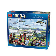 1000 Piece Classic Jigsaw Puzzle AIRSHOW Aircraft  War Planes Jets Spitfire 5359