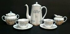 Shelley Blue Rock China Large Coffee Pot Tea Cups Saucer Creamer & Sugar Bowl