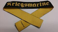 WW2 WWII German Kriegsmarine Cap Tally patch Bevo Wuppertal insignia
