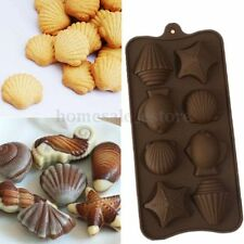 Slicone Shell Starfish Fish Cube Chocolate Cake Cookie Muffin Candy Mould Mold