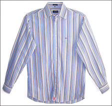 Men's PAUL & SHARK multi color striped long sleeve fitted shirt - size M (40)