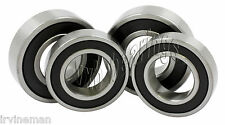 Yamaha Banshee Front Wheel/Axle Set 4 Hub Ball Bearinga