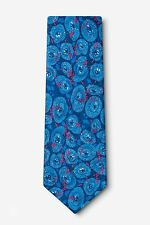 Infectious Awareables 100% Silk Blue Tuberculosis Medical Doctor Necktie Tie