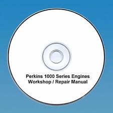 Perkins 1000 Series  Workshop Repair Manual  4 & 6 Cylinde Engines CD PDF