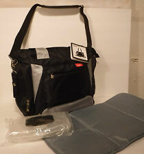 Skinly Diaper Bag Baby Diaper Changing Bag Black/Gray Tote Bottle BagSM010210R1A